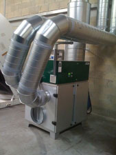 stockage sous air sec d'une centrale électrique en modules.