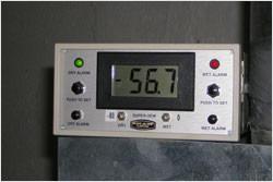 Tableau de bord d'un dehumidificateur