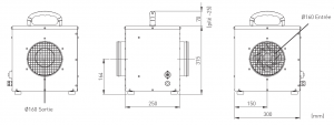 Dimensions d'un accessoire PB-10/20