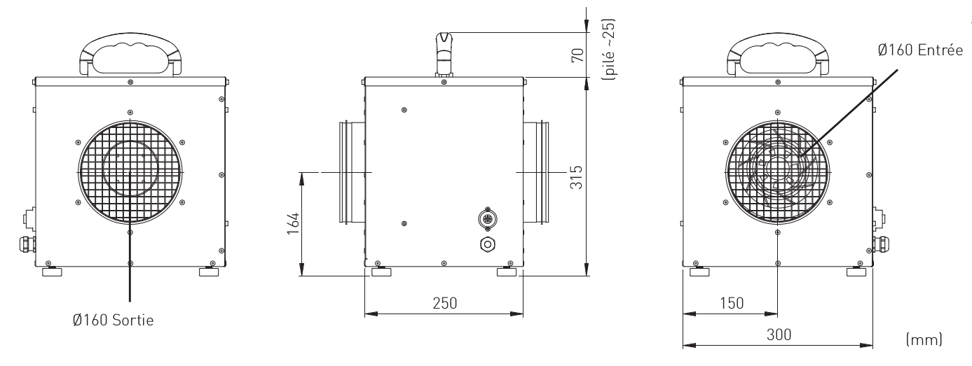 Dimensions accessoire Booster BP10