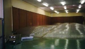 dégât des eaux dans un gymnase