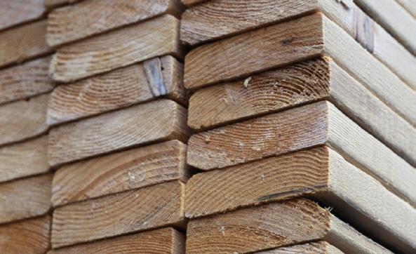 Stockage bois sciés