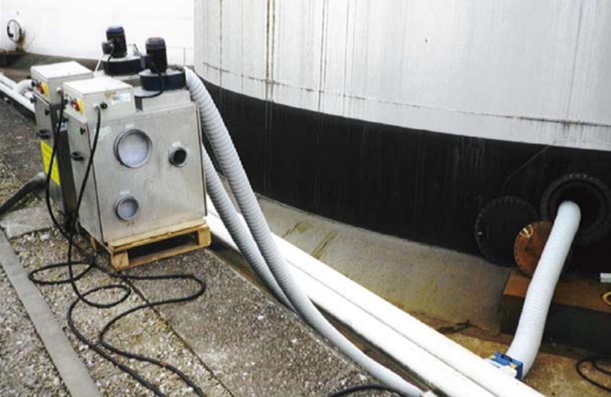 installation déshydrateur industriel