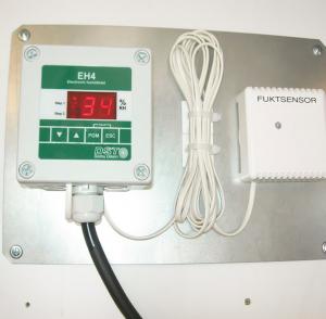 hygrostat électronique EH-4 avec sonde d'humidité capacitive à réponse rapide.